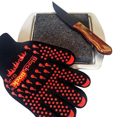 Black Rock Grill Bistec Piedra de Cocina Set Regalo Amates para Hombre...