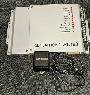 Phonetics Sensaphone 2000 8 Channel Remote Monitoring System W Ac Power Supply