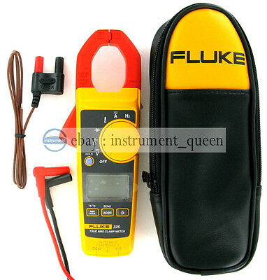 New Fluke 325 True-rms Clamp Meter 40.00 A 400.0 A With Soft Carrying Case