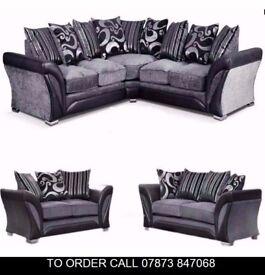 asd Shanan Farra Corner Sofa Settee in BLK GREY or BROWN asd
