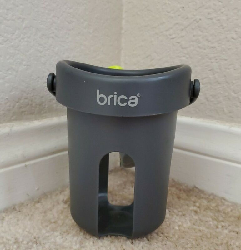 Brica Drink Pod Attaches to Stroller and More Cup Holder Self Leveling Old Style