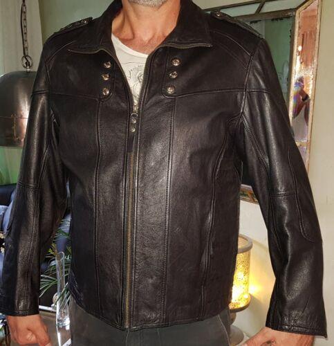 AFFLICTION KEEPER LEDERJACKE XL  Leather black NIETEN SKULL ECHT LEDER