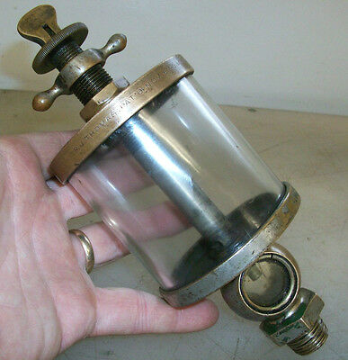 R.j. Thomas Pat. Nov. 6th 1883 Flat Sight Glass Oiler For Old Gas Engine