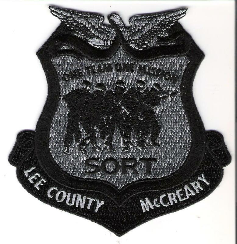 Bureau of Prisons USP Lee County VA USP McCreary KY Joint SORT Patch Blk & Gray
