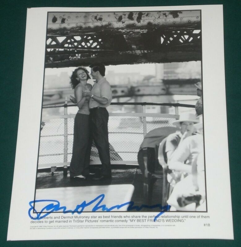 DERMOT MULRONEY SIGNED MY BEST FRIENDS WEDDING ORIGINAL B&W PROMO 8X10 PHOTO COA