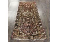 Lovely Traditional Vintage Persian Wool 2.9 X 7.3 Oriental Rug Handmade Carpet Rugs