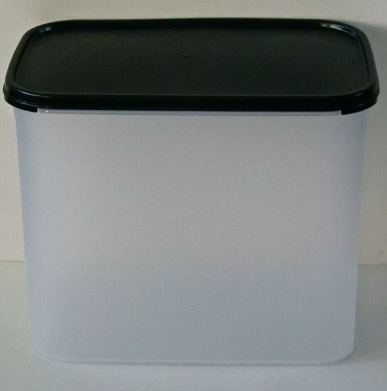 Tupperware #4 Modular Mate Rectangle 37 Cups Storage Container w/Seal! New Black