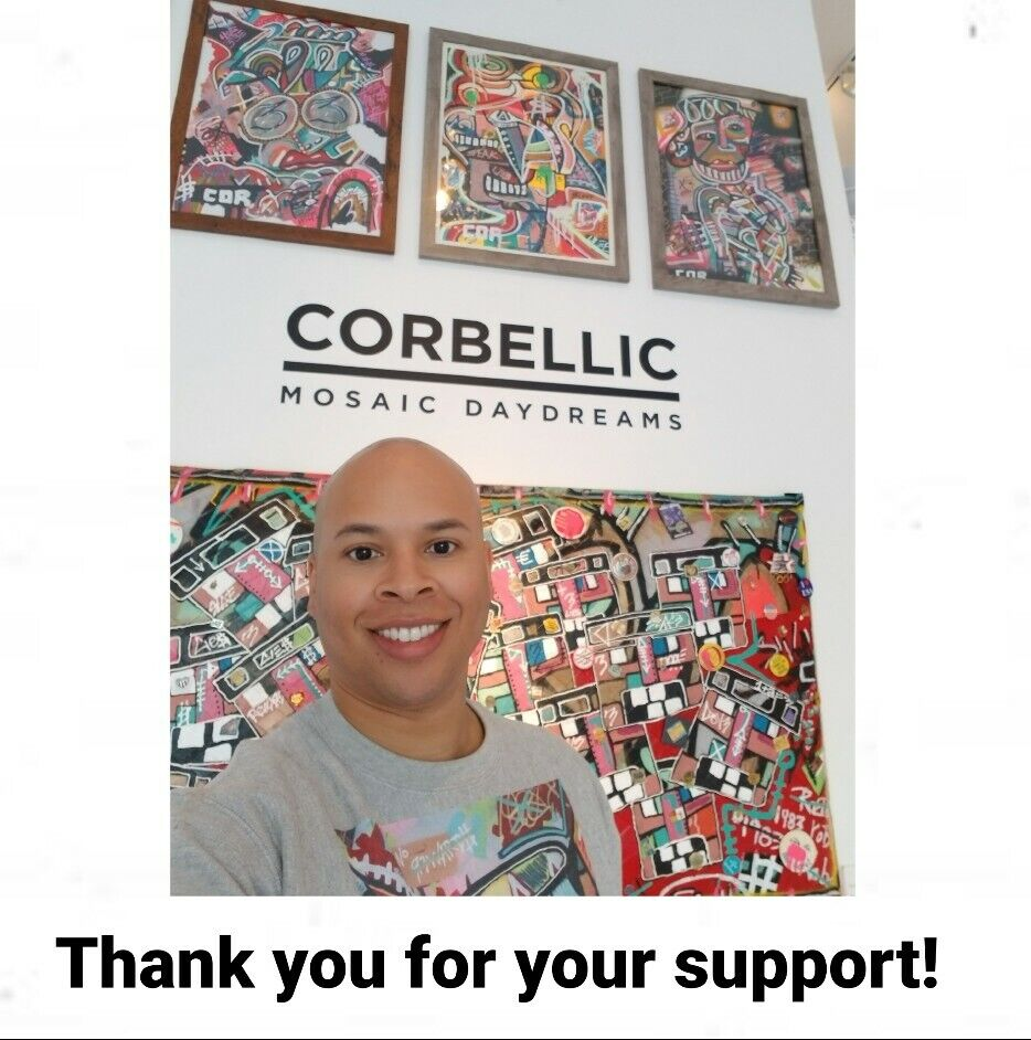 CORBELLIC ART - Acrylic Paint Expressionism Beautiful Women On Paper Series - $0.99