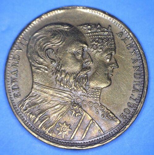1902 CORONATION MEDAL EDWARD VII & ALEXANDRA - SAINT GEORGE & DRAGON - *01997322