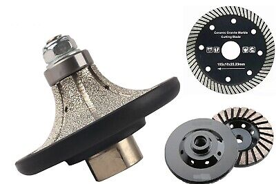 316 Demi Bullnose Router Bit 10 Diamond Grinding Cup Cutting Saw Blade Granite