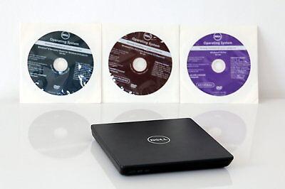 Lecteur externe dvd pour pc portable dell + 3 dvd windows de restauration offert