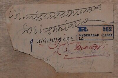 Mayfairstamps India 1913 Native Feudatory States Mixed Franking Torn Cover wwp9