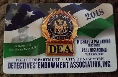 "1 ""COLLECTIBLE"" NEW AUTHENTIC 2018 NYPD DEA PBA CARD NOT SBA CEA LBA CARD"