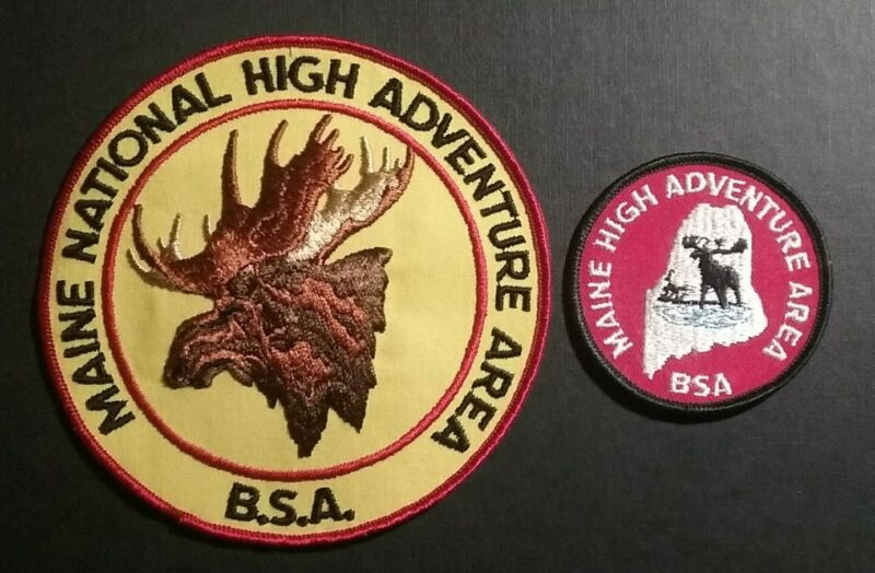 Vintage BSA Boy Scouts Maine National High Adventure Area Closed Patches (2)