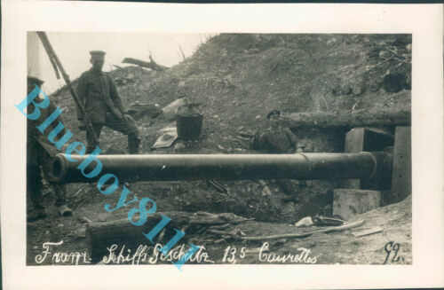 WW1 Bunkered German Artillery piece  7 x 5 inches