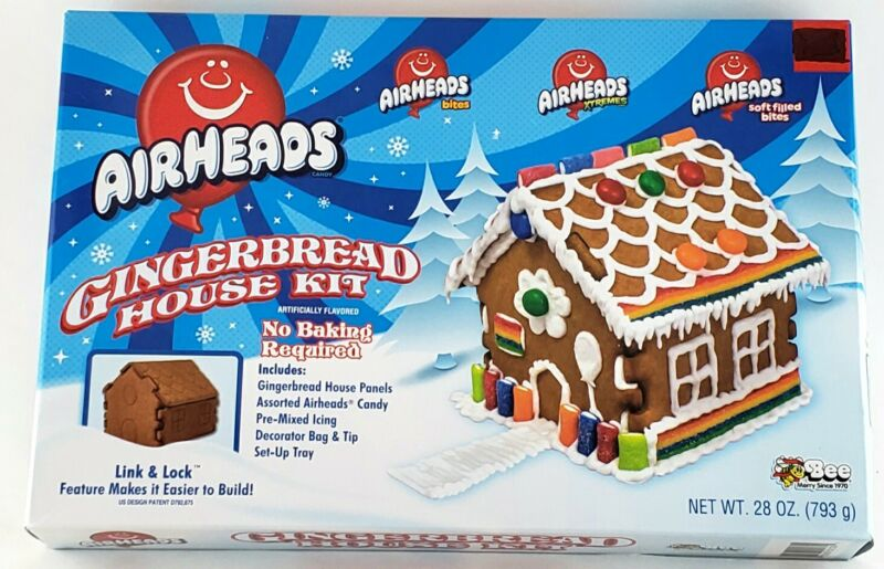 AIRHEADS Candy  Gingerbread House Kit. New