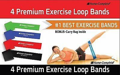 Resistance Loop Bands Best Exercise Set of 4 Strength Performance