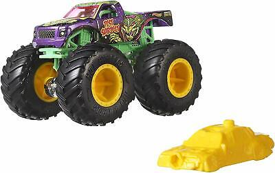 Monster Trucks 1:64 Scale Die-Cast Assortment with Giant Wheels Assorted Hot Whe