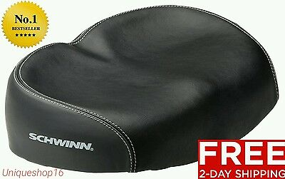 NEW SCHWINN COMFORTABLE ERGONOMIC SOFT WIDE LARGE NO PRESSURE BICYCLE BIKE SEAT