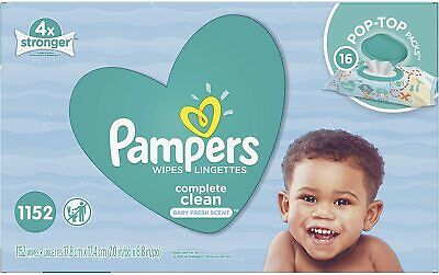 Pampers Scented Baby Wipes, Complete Clean (1152 ct.), new