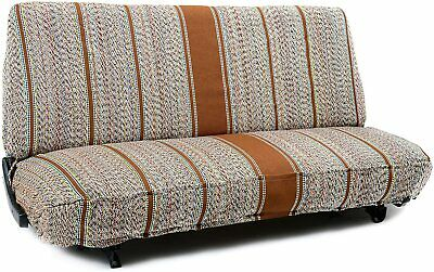 Brown Universal Saddleblanket Seat Cover for Truck and Car Bench Seats One Piece