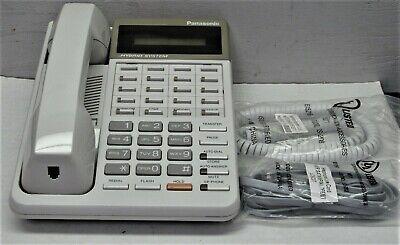 Panasonic Kx-t7030w Phone Hybrid Emss White Display Speakerphone Tested Warranty