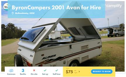 3 Berth Caravan FOR HIRE in Mullumbimby from $75/night