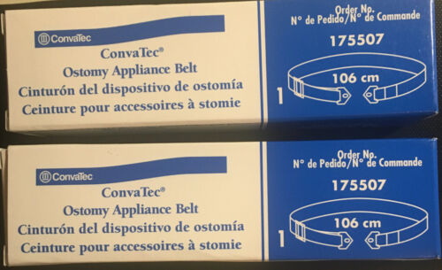 Two ConvaTec Ostomy Belts - Adjustable With Plastic Buckle. For Added Security - $4.49