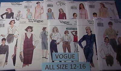 Vogue Patterns (W) ~ All Patterns are Size 12-16 ~ ~ ~ Listing (Vogue List)