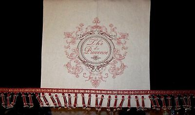 Dues Made French Country Th'e de Provence Linen Panel + High End Linen Valance