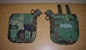 2-GENUINE-US-NAVY-SEALS-SF-SPEAR-SAFARILAND-ELCS-2QT-CANTEEN-POUCHES-CANTEEN-NEW