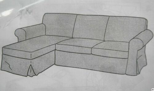 Nordvalla dunkelbeige Ikea Sofa Bezug, Ektorp 2/3-er Sofa MIT Recamiere, Couch