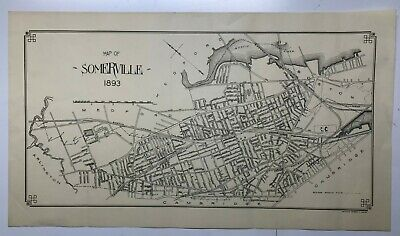 Newtown PA c1893 map 34x24