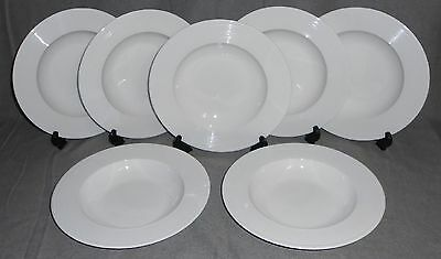 Mikasa Ridge (Set (7) Mikasa RIDGE PATTERN White Bone China RIMMED SOUP BOWLS)