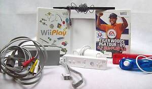Nintendo Wii Console Pack Bundle 2-Controllers 2-Nunchuck IR Bars Blakeview Playford Area Preview