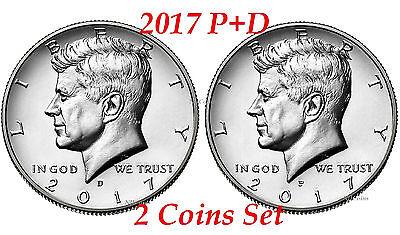 Clad Half Dollars - 2017 Kennedy Half Dollars 2 coins set P + D Clad President 50¢ coin US Mint