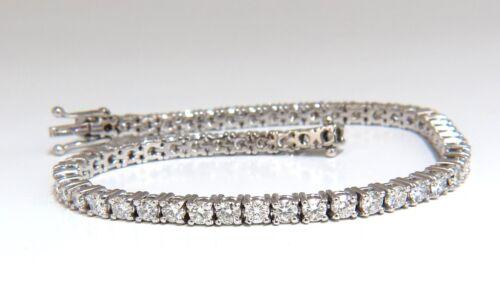 4.50ct Natural Classic Diamond Tennis Bracelet 18kt G/vs 7.50 Inch