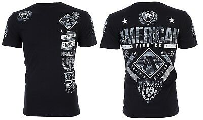 American Fighter Mens T Shirt Lander Athletic Black Grey Camo Biker Gym Ufc  40