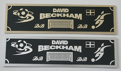 David Beckham nameplate for signed soccer ball photo or display case (David Beckham Soccer Ball)