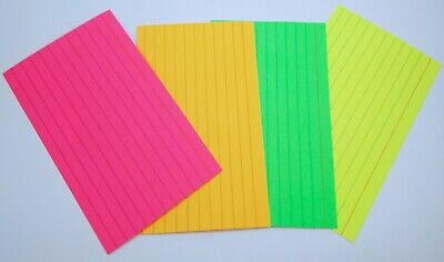Super Bright Neon Index Cards 100 Count Per Pack 2 Pack Lot High Quality