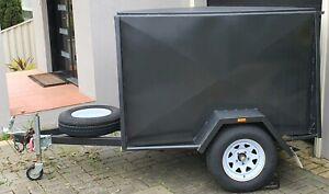 6x4 Single Axle Enclosed Trailer