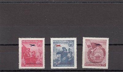 a140 - YUGOSLAVIA - SG609-610a MNH 1949 AIR 5th ANNIV LIBERATION OF MACEDONIA