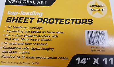 10 Pack Of 14 X 11 Clear Photo Sheet Protectors Presentation Cases Notebooks