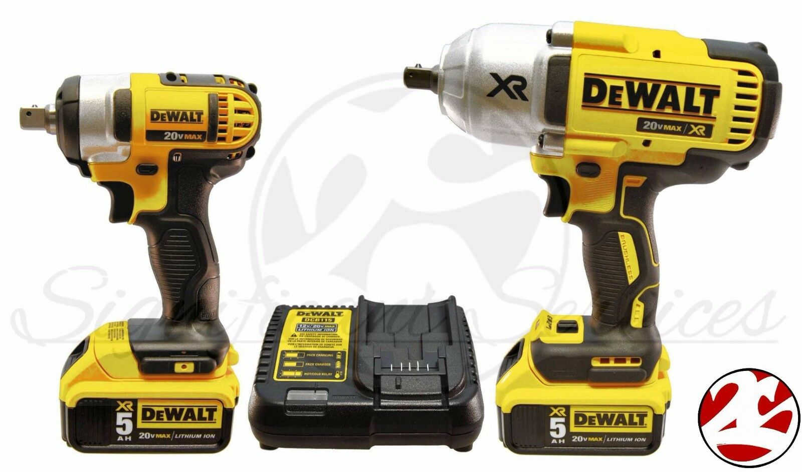 Dewalt dck398hm2 20v max brushless high torque impact for Dewalt 20v brushless motor