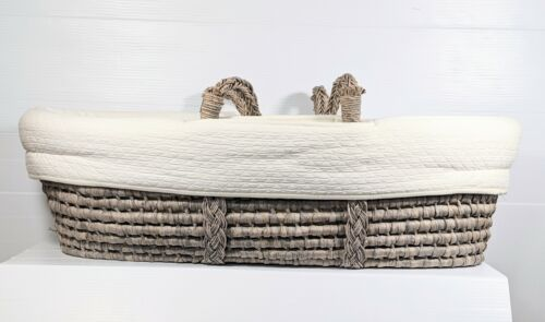 Restoration Hardware Baby Moses Basket Lined Padded Discontinued Retired