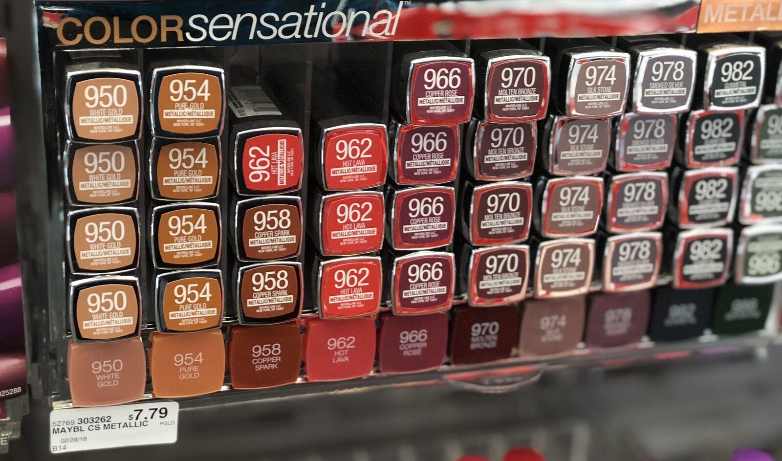 BUY 2 GET 2 FREE  Maybelline Color Sensational Lipstick