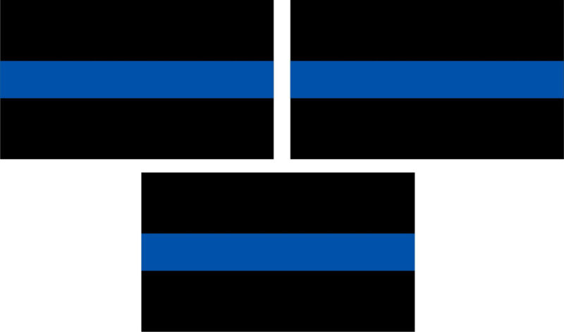 """Thin Blue Line Products - REFLECTIVE 2"""" X 3"""" DECAL - SET OF THREE Decals"""