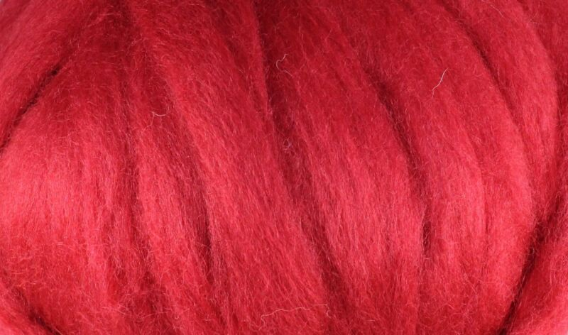 Wool Roving - 1oz - Cranberry
