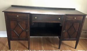 Antique quarter sawn oak  sideboard