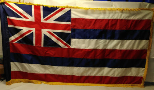 Hawaii State Flag     US Army issue parade flag SEWN style   est. 5